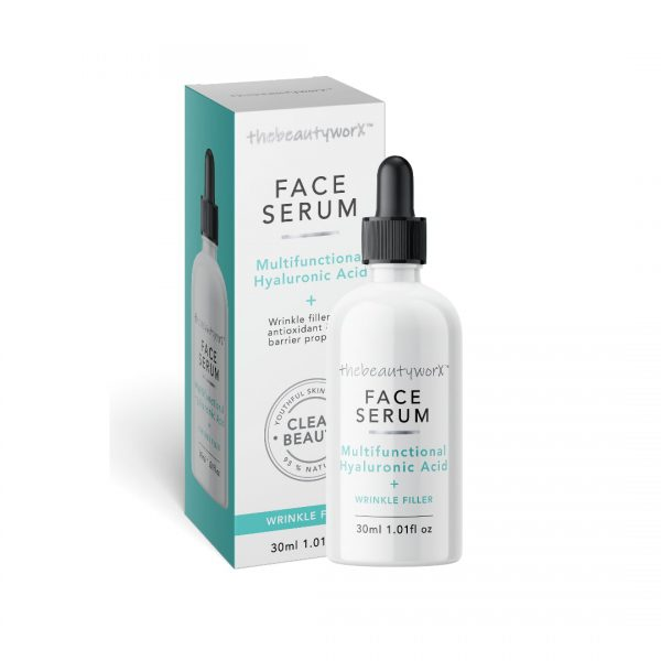 TBW Hyaluronic Acid Face Serum Box & Bottle