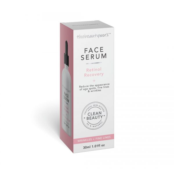 TBW Retinol Recovery Face Serum Box